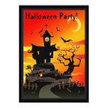 "Scary Haunted House Halloween Party Invitation 5"" X 7"" Invitation Card"