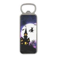 Scary Haunted House Happy Halloween Magnetic Bottle Opener