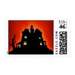 Scary Haunted House Stamps