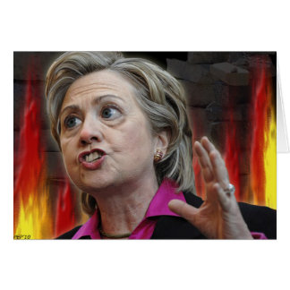 Scary Hillary Greeting Card