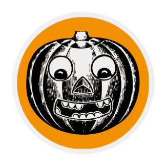 Scary Jack-o-Lantern Edible Frosting Rounds