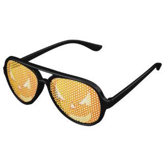 Scary Jack o Lantern Face Halloween Aviator Sunglasses
