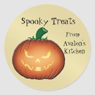 Scary Jack O Lantern Halloween Baking Stickers