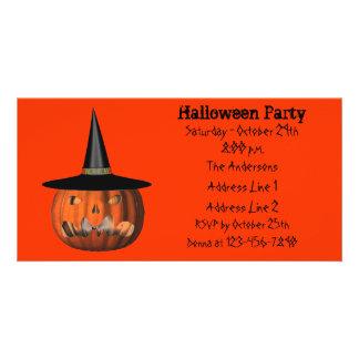 Scary Jack O Lantern Halloween Party Invite