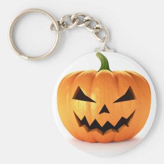 Scary Jack O Lantern Halloween Pumpkin Keychain