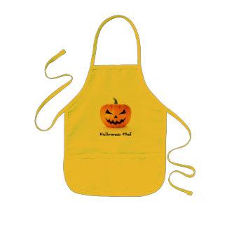 Scary Jack O Lantern Halloween Pumpkin Kids' Apron