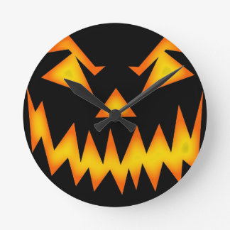 Scary Jack O Lantern Round (Medium) Wall Clock