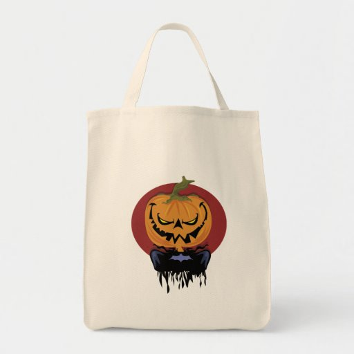 Scary Jack-o-lantern totebag Grocery Tote Bag