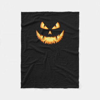 Scary Jack O Lantern with an evil grin and hungry Fleece Blanket