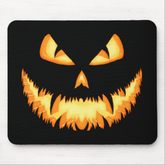 Scary Jack O Lantern with an evil grin and hungry Mouse Pad