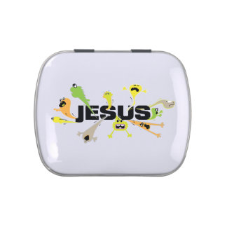Scary Jesus Jelly Belly Candy Tins