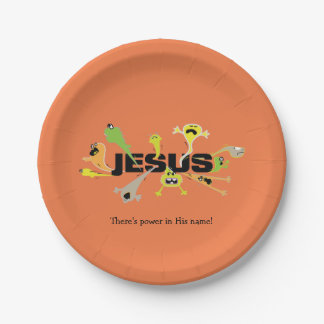 Scary Jesus Paper Plate