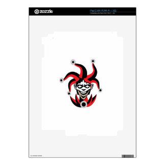 Scary joker design iPad 2 decals