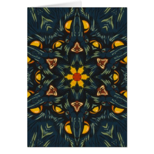 Scary Kittie Kaleidoscope Card