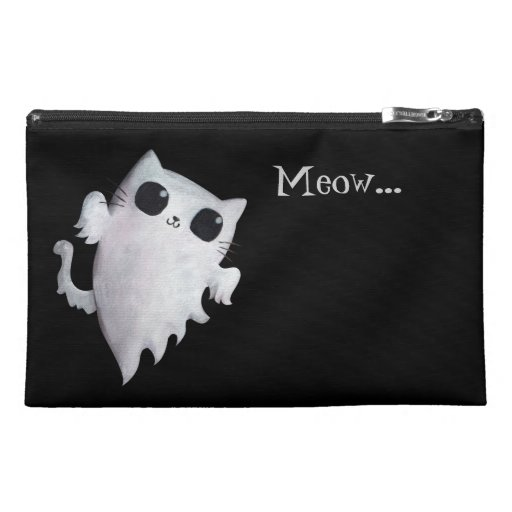 Scary Kitty Cat Ghost Travel Accessory Bags