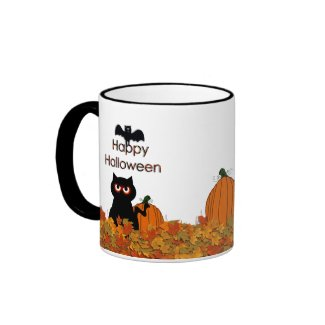 Scary Kitty Happy Halloween Mug mug