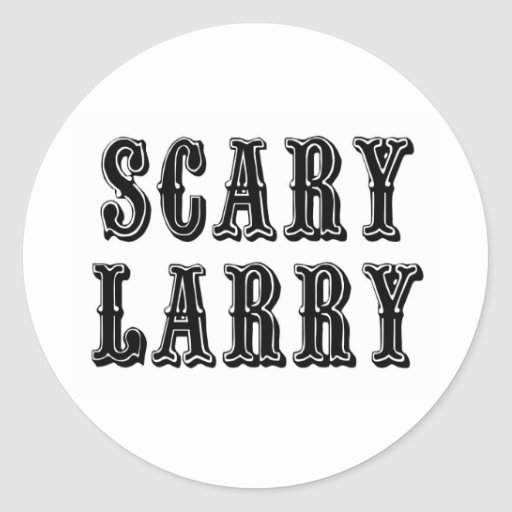 Scary Larry Classic Round Sticker