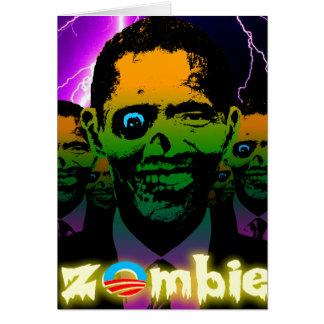 Scary Lightning Obama Zombie Horde Card