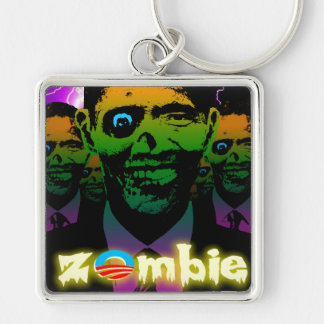 Scary Lightning Obama Zombie Horde Keychain