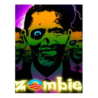 Scary Lightning Obama Zombie Horde Postcard