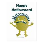Scary 'Lime Disease' monster - Halloween fun Postcards