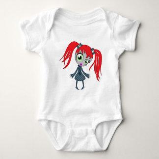 Scary Little Creepy Girl Baby Bodysuit