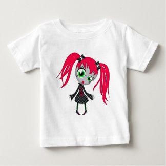 Scary Little Creepy Girl Baby T-Shirt