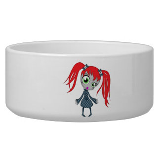 Scary Little Creepy Girl Bowl