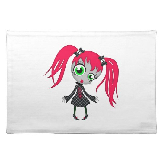 Scary Little Creepy Girl Cloth Placemat