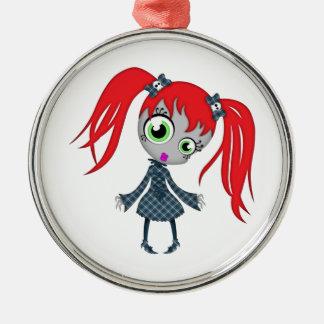 Scary Little Creepy Girl Christmas Tree Ornament