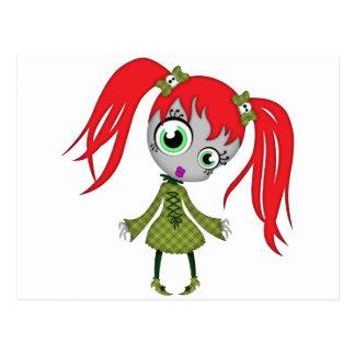 Scary Little Creepy Girl Postcard