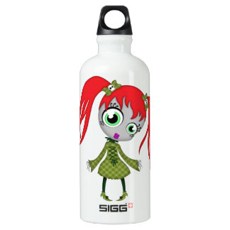 Scary Little Creepy Girl Water Bottle
