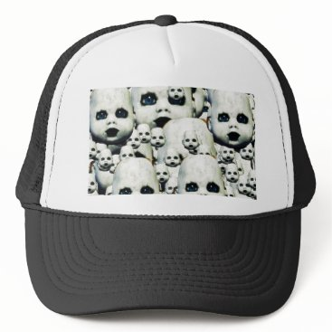 Halloween Themed scary little doll face haunted doll products trucker hat