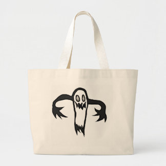Scary little ghost jumbo tote bag