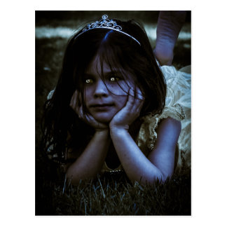 Scary Little Girl Postcard
