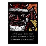 Scary Mall Santa Christmas Card