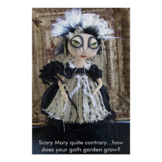 Scary Mary Goth Poster