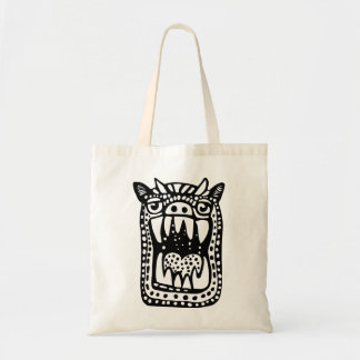 Scary Monster - Black Tote Bag