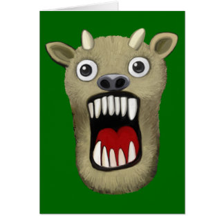 Scary Monster Greeting Cards