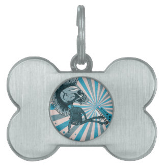 Scary Monster Doll Pet Tag