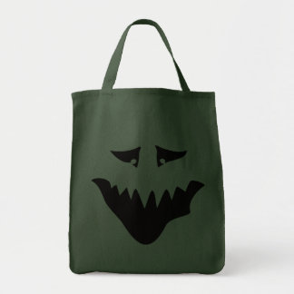 Scary Monster Face Black Bags
