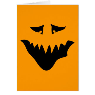 Scary Monster Face. Black. Card
