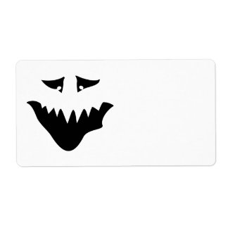 Scary Monster Face. Black. Label
