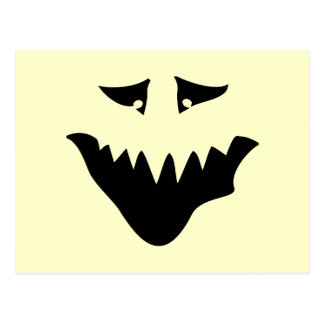 Scary Monster Face. Black. Postcard