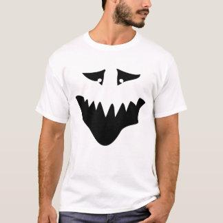 Scary Monster Face. Black. T-Shirt