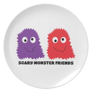 Scary Monster Friends Dinner Plate