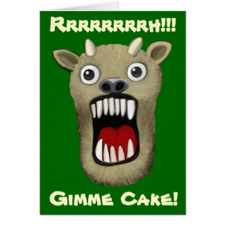 Scary Monster - Gimme Cake Card