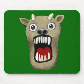 Scary Monster II - Green Mouse Pad