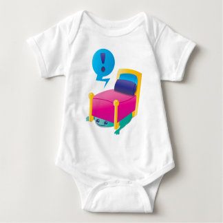 SCARY monster lurking under the BED Baby Bodysuit