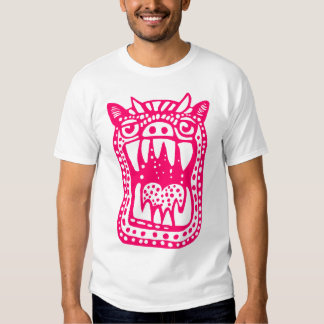 Scary Monster - Neon Red T-shirt